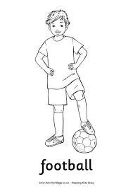 football boy colouring page