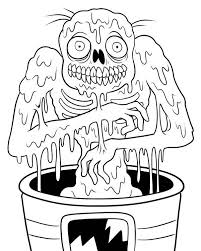 zombie coloring pages free print coloringstar