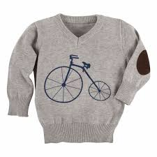 sweaters boys andy evan boys gray navy blue bicycle sweater