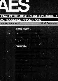 aes e library complete journal volume 40 issue 12