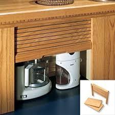 garage door for kitchen cabinet omega national 18w x18 5h appliance garage maple