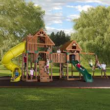 triton diy wood fortswingset plans jacks backyard picture with