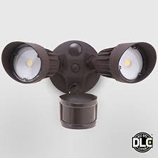 outdoor security motion lights 20w dual head motion activated led outdoor security light photo