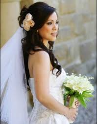 wedding hairstyles ideas half up medium hair casual wedding