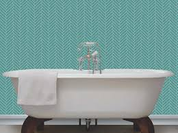 glitter wallpaper bathroom wallpaper john s teal cream with glitter herringbone tile