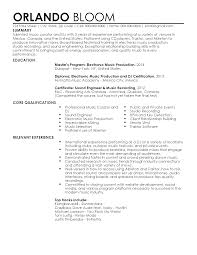 Music Resume Sample by Sound Engineer Resume Free Resume Example And Writing Download
