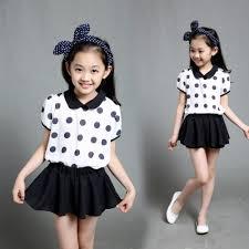 Little Girls Clothing Stores 2015 Summer Style Little Girls Clothes Princess Polka Dot T Shirt
