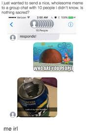 Who Are You People Meme - i just wanted to send a nice wholesome meme to a group chat with 10