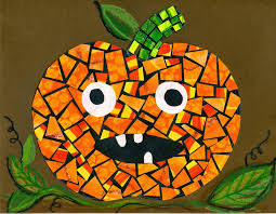 that artist woman halloween mosaics u0026 making painted printed