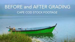 sony fs7 before and after grading cape cod stock footage youtube