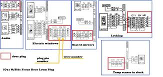 guide ph3 front door loom plug pinouts archive pug306 net