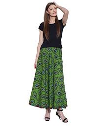 cotton skirts boho floral maxi skirt indian printed cotton skirts for