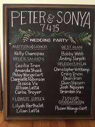 Chalkboard Wedding Program 22 Best Wedding Chalkboards U0026 Signage Images On Pinterest