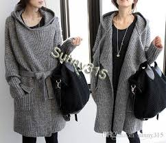 fall fashion korean plus size cardigan hooded sweaters