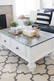 farmhouse style coffee table farmhouse style coffee table makeover how to update an old coffee