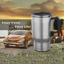 400ml 12v heated stainless steel travel car plug charger coffee