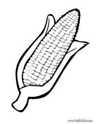 ear of corn coloring page free download