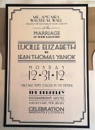 classy art deco wedding invitations u2014 criolla brithday u0026 wedding