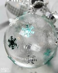 diy ideas how to decorate clear ornaments for crafts