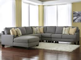 modern 5 piece sectional sofa with left chaise u0026 reversible seat