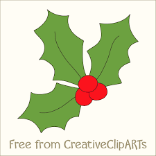 free christmas holly clip art clip art library