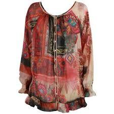 galliano print silk kaftan designer womens tops wome
