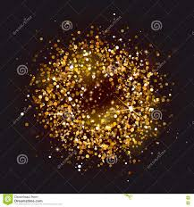 halloween glitter background golden circle frame on black background stock vector image 82244733