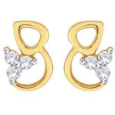 d damas gold earrings d damas gold diamond earrings dde02337 gold earrings