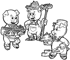 3 little pigs farmers coloring page wecoloringpage