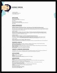 Best Font For Science Resume by Fascinating The Best Cv Resume Templates 50 Examples Design Shack