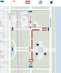 Red Line Chicago Map by Guide To Taste Of Chicago Menus Performers Transportation Map