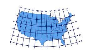 united states map with longitude and latitude cities latitude and longitude