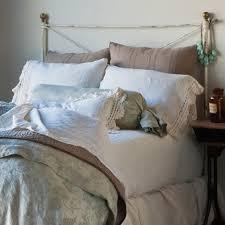 bella notte pillowcase linen with crochet lace trim