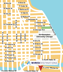 navy pier map location map for fairmont chicago in united states chicago