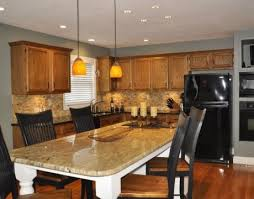 Oak Cabinets Kitchen Design 37 Best Granite Countertops With Oak Cabinets Images On Pinterest