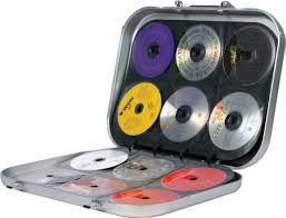 180 cd dvd bluray disc portable carry storage hard box case holder