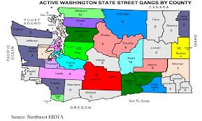 Gang Map U Les Northwest Hidta Washington State Gang Intelligence