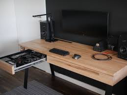 Tech Computer Desk A Different Desk Pc No Window No Rgb Just Minimal And Clean Af