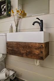 Reclaimed Wood Vanity Bathroom Remodelaholic How To Mix Wood Tones Like A Pro