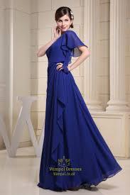 blue one shoulder maxi dress blue one shoulder single sleeve dress