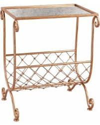 Copper Side Table Don U0027t Miss This Bargain Sterling Copper Side Table With Magazine