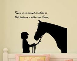 horse decal barrel racer wall sticker girls bedroom name