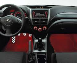 subaru red subaru impreza xv 2 0 footwell illumination kit red 2012 2015