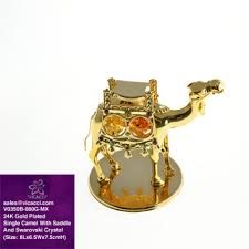 sale 24k gold plated decorative camel figurine with saddle and