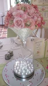 Water Bead Centerpieces by Crystal Vine Around Large Martini Glass Filled With Water Beads