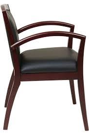 nap97mah office star napa mahogany guest chair with full
