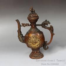 Aliexpresscom  Buy Antiques Copper Gilt Embossed Dragon Jug - Gilt home decor