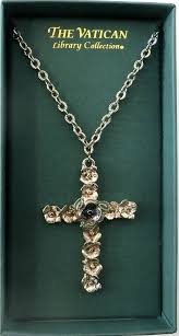 the vatican library collection ornate vatican library collection cross necklace