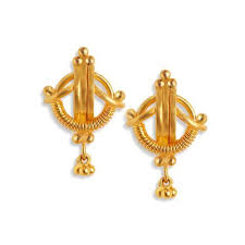 gold earring design with price earring tanishq yellow gold stud earrings manufacturer from hosur
