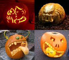 decoration contemporary horror spooky couple pumpkin carving